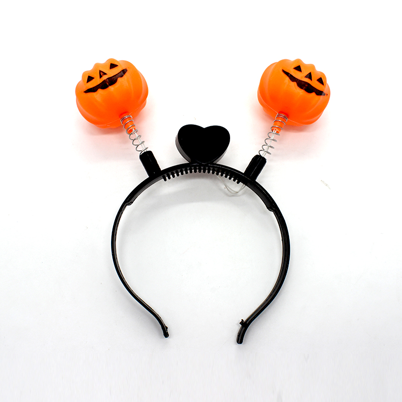 led pumpkin headband