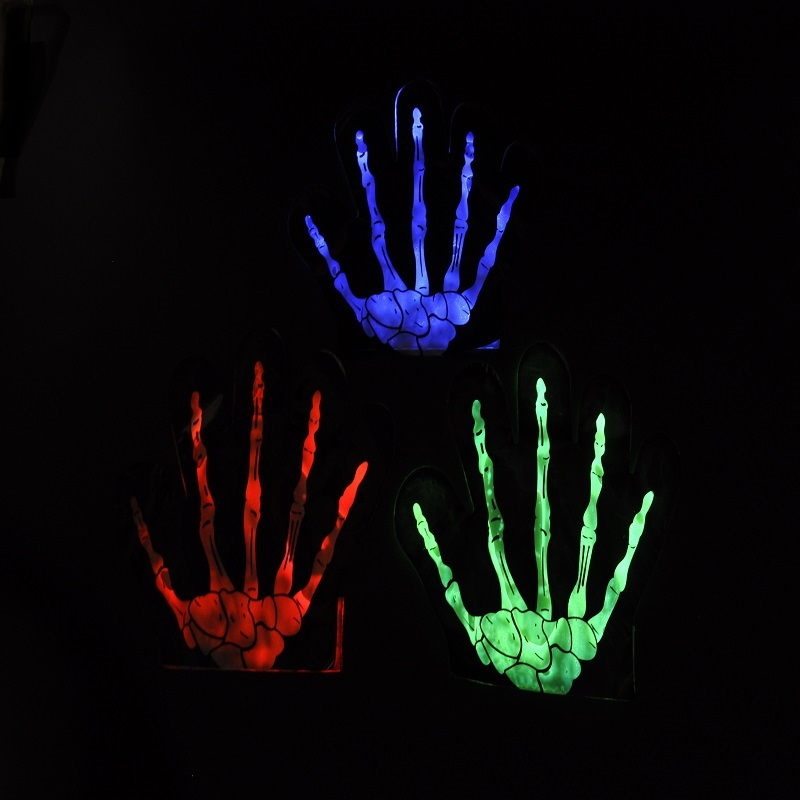 halloween glow gloves
