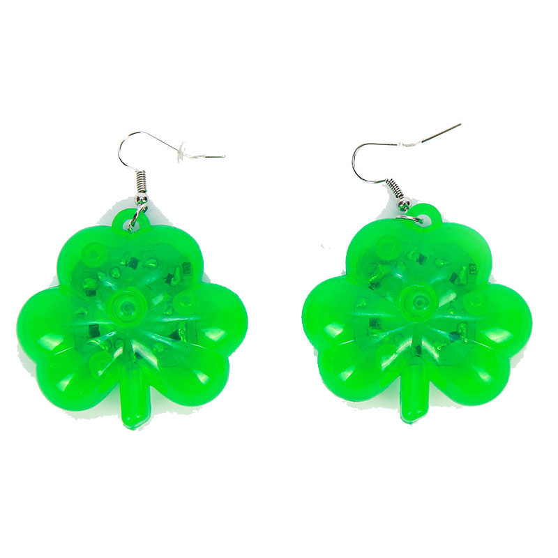 clover led earrings