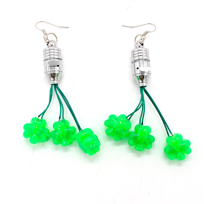 led clover earrings