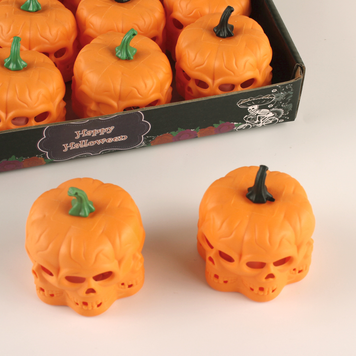 pumpkin luminous candle